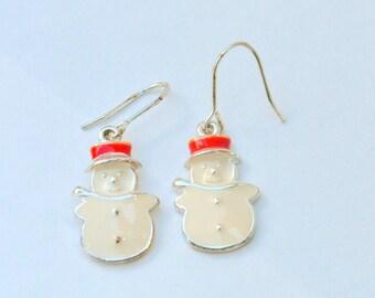 Snowman earrings holiday earrings BB29