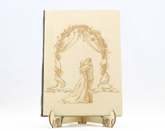 Arch Wedding Guest Book, Lasercut Guestbook, Wood Engraved Guest Book, Unique Love Guestbook, Wedding Couple Guestbook, Beautiful Guestbook