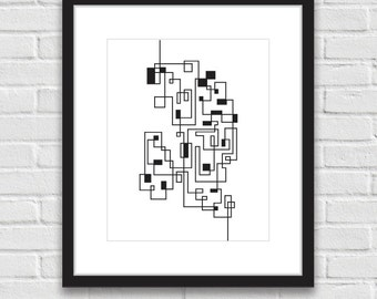 Geometric art, Graphic Design Print, Printable Art, Digital Print, Scandinavian Design Print, Black and White Art, Home Decor Wall Poster