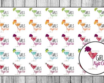 Girls Night Out Planner Stickers