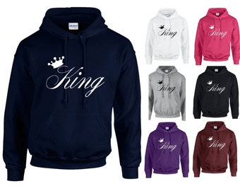 King Crown Adults Hoodie Hooded Sweatshirt - Funny/Gift/Newlywed/Husband/Anniversary/Wedding