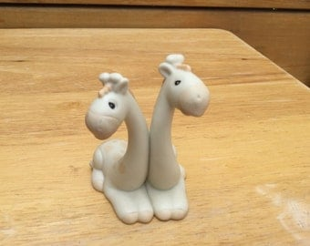Retired-The Enesco Precious Moments Collection Giraffes 1992