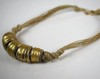 Unique natural statement necklace (156-N)