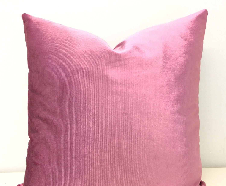 Velvet Decorative Pillow Covers : Pink Velvet Pillow Cover Velvet Pillow Pink by artdecopillow