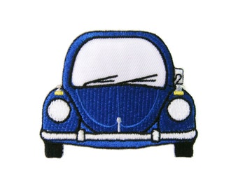 Beetle Car Volkswagen VW Embroidered Applique Iron on Patch