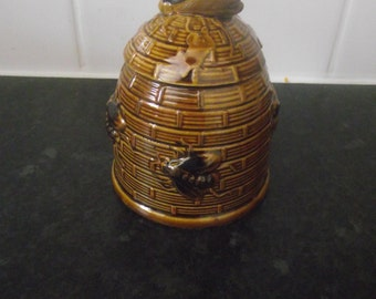 1960's Brown Honey pot decorated with Bees
