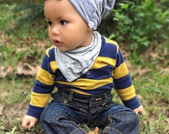 Mustard, Grey, Black, Solid Colored Beanies