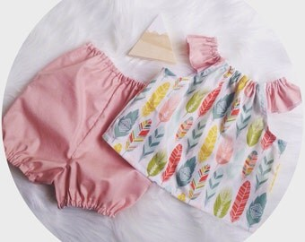 Feather top & Bloomers set