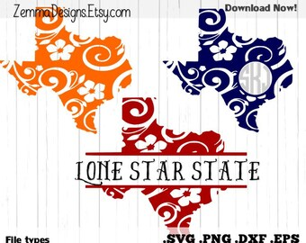 Texas svg - Silhouette files - file types. .DXF .SVG, .PNG Silhouette studio - cutting file - commercial use