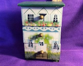 Mini Trinket Box-Dresser style