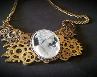 handmade steampunk inspired necklace
