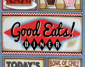 Good Eats Diner Fabric Panel From SPX 1420