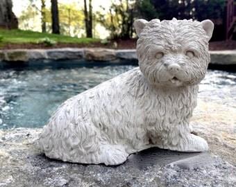 Concrete Westie Dog Statue, Concrete Westie Statue, Dog Statues, Concrete  Garden Decor,