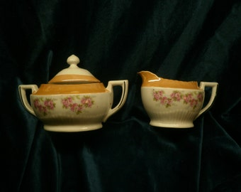 1920s REDUCED vintage sugar and creamer made in Germany