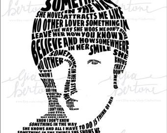 John Lennon Beatles Lyrics Portrait