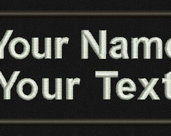 2 Line, Personalized Custom Name Tapes ,Tactical,Military Name Tape, Monogram, Labels, Velcro, Iron on, Sew on, Morale Patch.