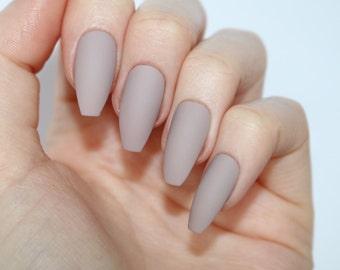 Matte mocha coffin nails, Nail designs, Nail art, Nails, Stiletto nails, Acrylic nails, coffin nails, Fake nails, False nails