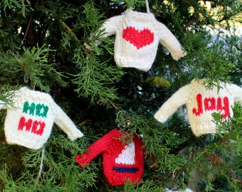 Christmas Knitting PATTERN / Tree Mini Sweater / Holiday Ornament / Knit Tutorial / PDF instant download / Quick DIY Gift