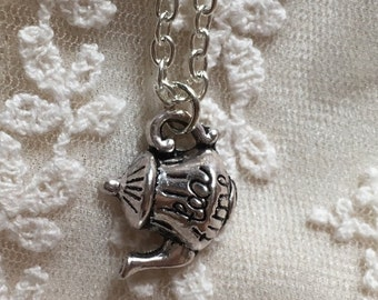 Tea Time Tea Pot, Alice in Wonderland necklace
