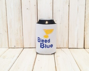 Bleed Blue St. Louis Blues Hockey Can Cooler