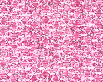 Organic cotton fabric 'pink structures'