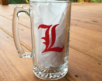 UofL University of Louisville Beer Mug- Mug 28oz