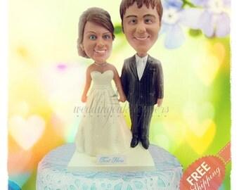 Custom wedding cake toppers Unique wedding cake topper Wedding cake toppers bride and groom Personalized cake toppers Wedding figurines gift