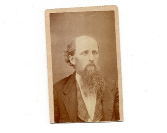 cdv of bald long bearded man