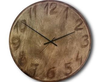 Plywood clock, Wall clock, Home decor, Original clock, Hand made clock, design clock, clock, rustic clock, clocks, unique wall clock