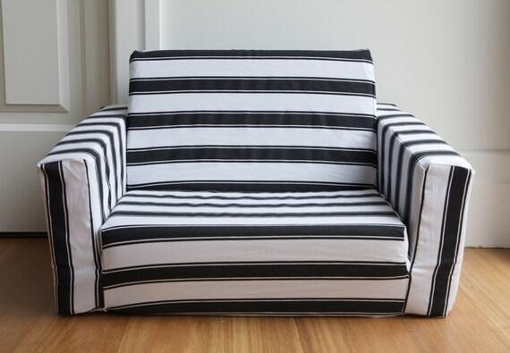sale kids flip out sofa cover black white stripe note. Black Bedroom Furniture Sets. Home Design Ideas