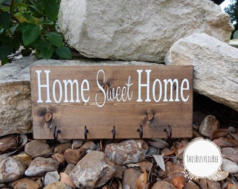 Key Holder, Home Sweet Home, Welcome Sign, New Home Gift, Housewarming Gift, New Apartment Gift, Wedding Gift