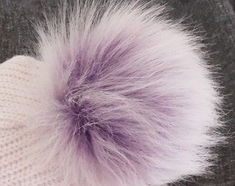 Size S faux fur pom pom 4- 4.5 inches 11 cm
