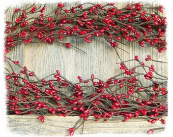 Red Berry Garland, Valentines Day, Christmas Garland, Holiday Garland, Anniversary Garland, Wreaths and Swags