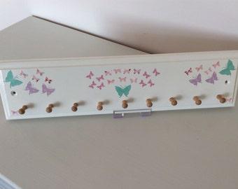 Girls Butterfly Jewellery Rack/Hook