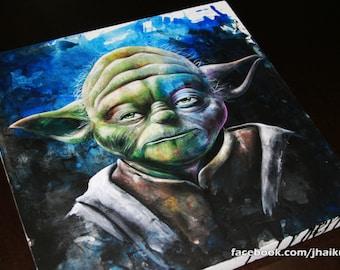 Yoda, star wars, original art