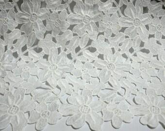 Pure White Milk Cotton Guipure Lace Fabric ,Cord Lace,Fashion Dress lace Fabrics