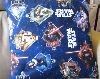 Star Wars Millennials pillow cover.  All of your original favorites, Luke, Leia, Han Solo, Yoda and more.