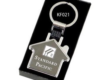 House Shaped Engravable Keyring