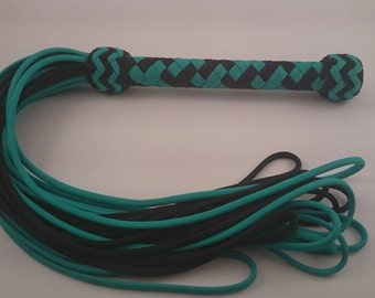 Hooped Fall Flogger - Black & Teal