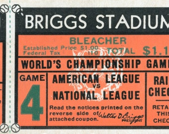 1940 World Series Game 4 Ticket