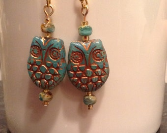 Copper and Blue Owls