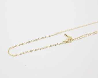 N0033/Anti-Tarnished Gold Plating Over Brass/235SF Finished + extension/16 inches/6pcs