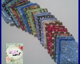 25 flannel wipes, double sided, topstitched, custom, choose, printed, soft, baby wipes, reusable tp, bathroom tissue, family cloth, tp