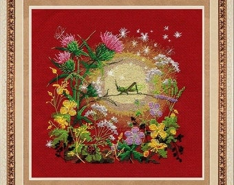 Cross Stitch Kit By GOLDEN Hands - Sunset
