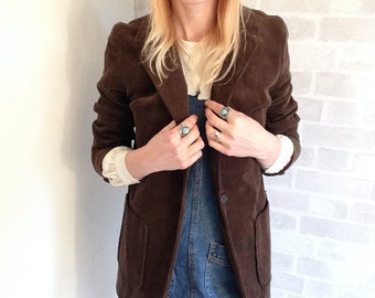 70's Brown Corduroy Blazer