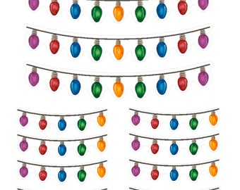 Holiday Lights banners (planner stickers)