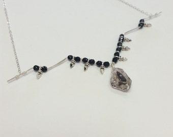 Herkimer Diamond Spike Necklace