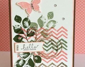 Handmade Feminine Friendship Card