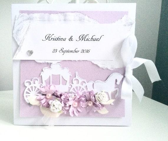 Personalised Wedding Gifts Disney : Personalised wedding card ,disney wedding card ,handmade unique ...