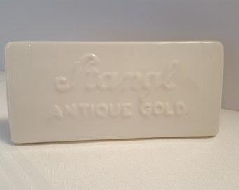 Original White Stangl 1965-77 Dealer Sign - Stangl Antique Gold